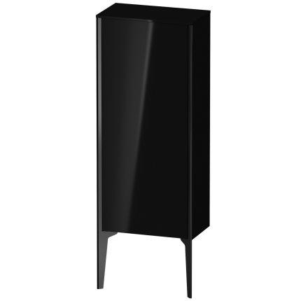 Dulap suspendat Duravit XViu 89x40cm negru lucios si cadru negru mat cu o usa deschidere stanga