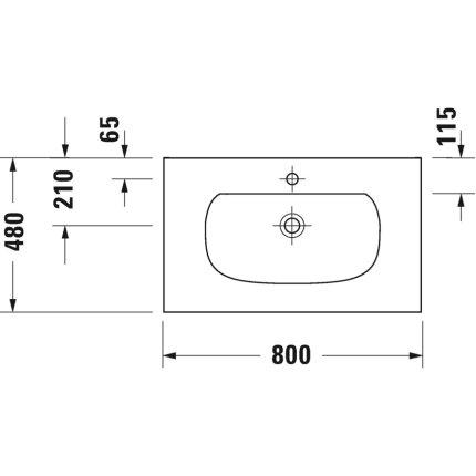 Set mobilier Duravit XViu cu lavoar 80cm, consola metalica negru mat si raft de sticla negru lucios