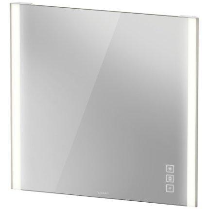 Oglinda Duravit XViu cu iluminare LED 82x80cm, cu incalzire si actionare pe senzor, margini champagne mat