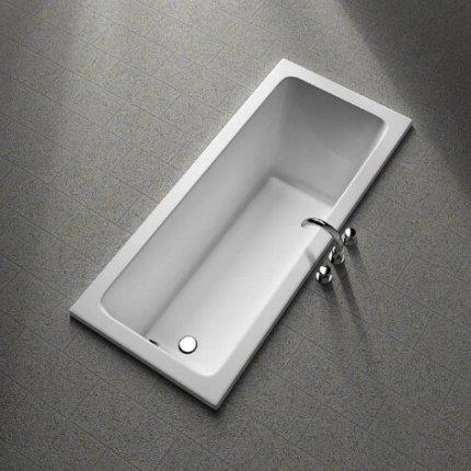 Cada baie rectangulara Kolo Modo 160x70cm, acril, picioare incluse