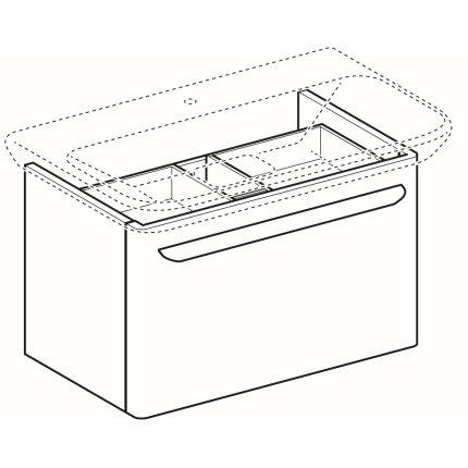 Dulap baza Geberit myDay 68cm cu un sertar, alb lucios
