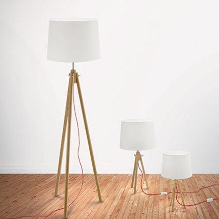 Lampadar Ideal Lux York PT1, 1x60W, 48x164cm, lemn