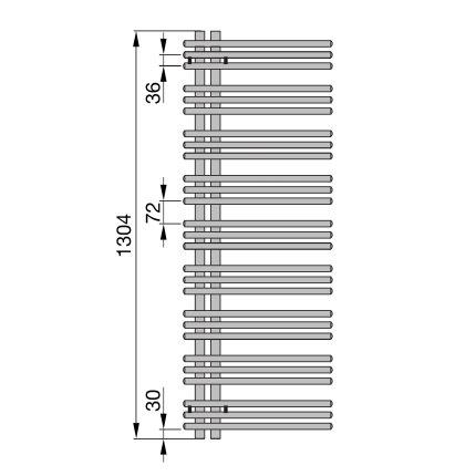 Radiator Zehnder portprosop Yucca Asymmetric 1300x400 mm alb