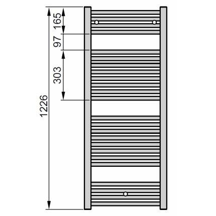 Radiator port-prosop Zehnder Virando 1226x450mm alb