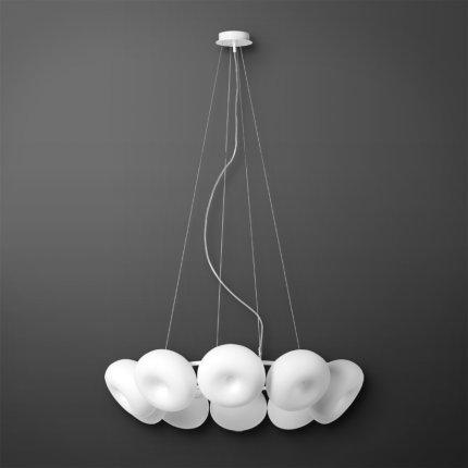 Suspensie Lucis Pia 10x8W LED,d78cm, alb