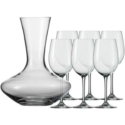 Set vin Schott Zwiesel cu decantor Classico si 6 pahare vin Taste