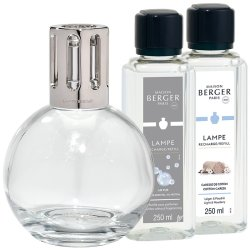 Lampi catalitice & Accesorii Set Berger lampa catalitica Essentielle Ronde cu parfum Caresse de Coton si So Neutral