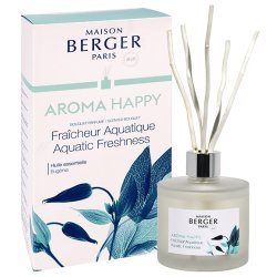 Cadouri Craciun & Decoratiuni Difuzor parfum camera Berger Aroma Happy Fraicheur Aquatique 180ml