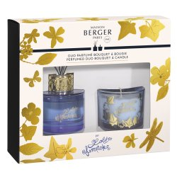 Cadouri Craciun & Decoratiuni Set Berger Duo Lolita Lempicka Blue Bouquet Parfume 80ml + lumanare parfumata 80g