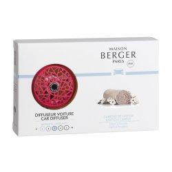 Odorizante auto Set odorizant masina Berger Summer Raspberry + rezerva ceramica Caresse de coton