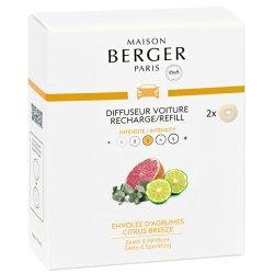 Odorizante auto Rezerve ceramice odorizant masina Berger Citrus Breeze 2piese