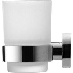 Accesorii baie Pahar sticla cu suport Duravit D-Code, prindere pe stanga