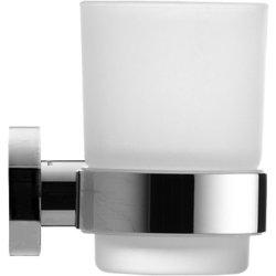 Accesorii baie Pahar sticla cu suport Duravit D-Code, prindere pe dreapta