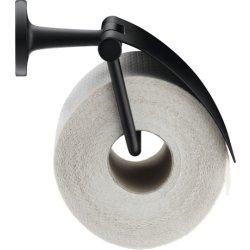 Suport hartie igienica Suport hartie igienica Duravit Starck T cu aparatoare, negru mat