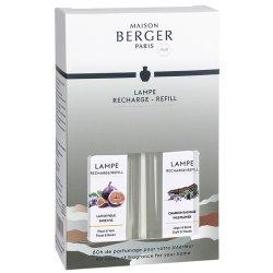 Lampi catalitice & Accesorii Set 2 parfumuri pentru lampa catalitica Berger Land Lait de Figue & Chardon Sauvage 2 x 250ml