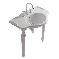 Obiecte sanitare Picior ceramic de sustinere pentru lavoar Globo Paestum 110cm si 90cm