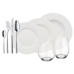 Set servire Villeroy & Boch Wonderful World White 4 Friends 36 piese