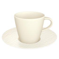Cesti & Cani Ceasca si farfuriuta espresso Villeroy & Boch Manufacture Rock Blanc 0.10 litri