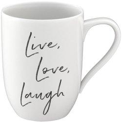 "Cana Villeroy & Boch Statement ""Live Love Laugh"" 340ml"