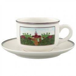 Cesti & Cani Ceasca si farfuriuta ceai Villeroy & Boch Design Naif 0.25 litri