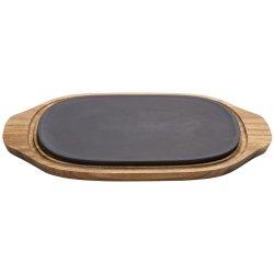 Servirea mesei Platou cu suport lemn Villeroy & Boch Barbeque Passion 31.5x21cm