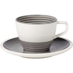 Servirea mesei Ceasca si farfuriuta pentru cafea Villeroy & Boch Manufacture Gris 0.25 litri