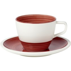 Cadouri pentru Zile de Nastere Ceasca si farfuriuta pentru cafea Villeroy & Boch Manufacture Rouge 0.25 litri