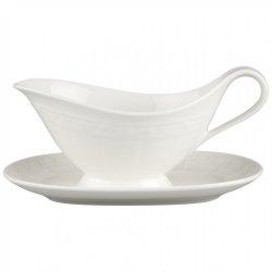 Servirea mesei Sosiera cu farfuriuta Villeroy & Boch White Pearl 0.40 litri