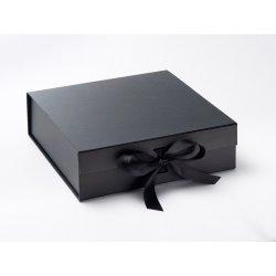 Cadouri pentru Amandoi Cutie cadou FoldaBox Large, inchidere magnetica si fundita, Black