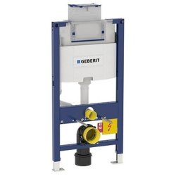 Rezervoare WC Rezervor incastrat Geberit Duofix Omega de 12 cm grosime si cadru cu actionare frontala sau de sus, H98 cm