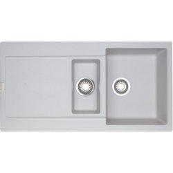 Chiuvete compozit Chiuveta bucatarie fragranite Franke Maris MRG 651 reversibila, 970x500mm, tehnologie Sanitized Bianco