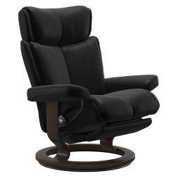Default Category SensoDays Fotoliu recliner Stressless Magic Classic Power, cadru wenge, tapiterie piele Batik Black