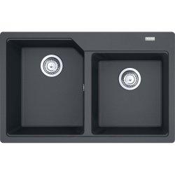Chiuvete compozit Chiuveta bucatarie fragranite Franke Urban UBG 620-78 cu doua cuve, 780x500mm, Grafite