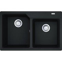 Chiuvete compozit Chiuveta Franke fragranite Urban UBG 620-78 cu doua cuve, 780x500mm, Nero
