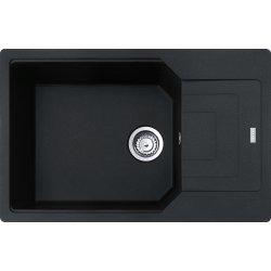 Chiuvete compozit Chiuveta bucatarie fragranite Franke Urban UBG 611-78L, 780x500mm, Nero