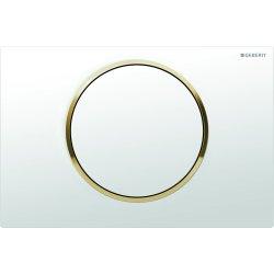 Rezervoare WC Clapeta actionare start/stop Geberit Sigma10 alb/auriu/alb