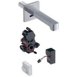 Baterii de baie Baterie lavoar Geberit Brenta 17 electronica, alimentare retea, montaj pe perete, pentru cutie functionala incastrata