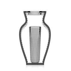 Vaza Kartell I Shine design Eugeni Quitllet, 20x33cm, fumuriu transparent