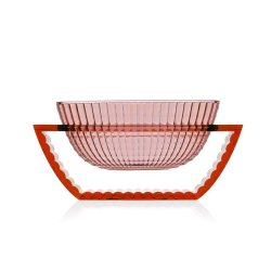 Bol decorativ Kartell U Shine design Eugeni Quitllet, 29x14cm, roz transparent