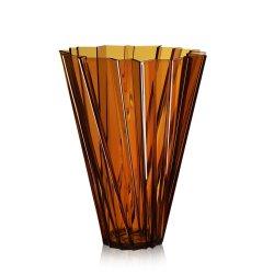 Default Category SensoDays Vaza Kartell Shanghai design Mario Bellini, h44cm, chihlimbar transparent