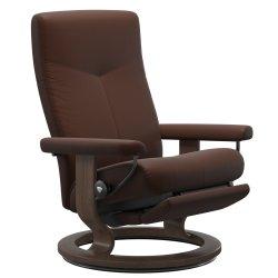 Fotolii & Sezlonguri Fotoliu recliner Stressless Dover M Classic Power Leg&Back, picioare Walnut, tapiterie piele Batik Malt
