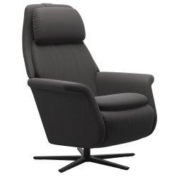 Canapele & Fotolii Fotoliu recliner Stressless Sam, baza  Sirius, Power Heating Massage, picioare negru mat, tapiterie piele Paloma Rock