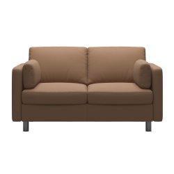 Canapele Canapea cu 2 locuri Stressless Emma E600 Classic, picioare metalice 11cm, piele Batik Latte