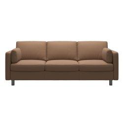 Canapele Canapea cu 3 locuri Stressless Emma E600 Classic, picioare metalice 11cm, piele Batik Latte