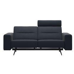 Canapele Canapea cu 2 locuri Stressless Stella, 1 tetiera, brate joase S1, picioare negru mat, tapiterie piele Paloma Shadow Blue