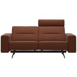 Canapele Canapea cu 2 locuri Stressless Stella, 1 tetiera, brate joase S1, picioare negru mat, tapiterie piele Paloma Cooper