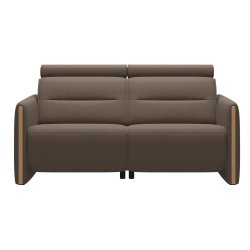 Canapele Canapea cu doua locuri Stressless Emily Arm Wood, recliner stanga, brate Oak, tapiterie piele Batick Mole