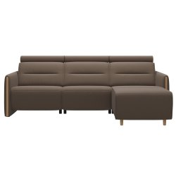 Canapele & Fotolii Canapea de colt Stressless Emily Arm Wood, recliner stanga, brate Oak, tapiterie piele Batik Mole