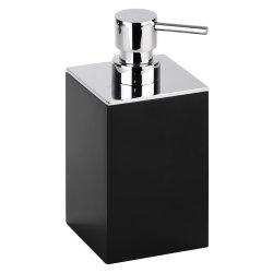 Accesorii baie Dispenser sapun lichid Bemeta Gamma patrat, negru