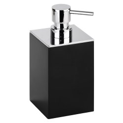 Dispenser sapun lichid Bemeta Gamma patrat, negru